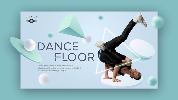Concept de modèle de bannière de classe de danse