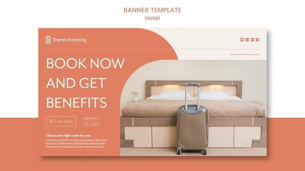 Concept de modèle de bannière d'hôtel