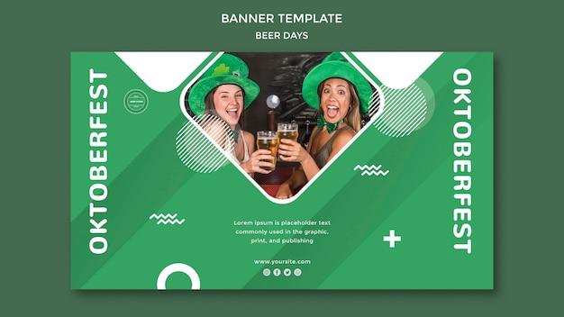 Concept de modèle de bannière de jour de bière