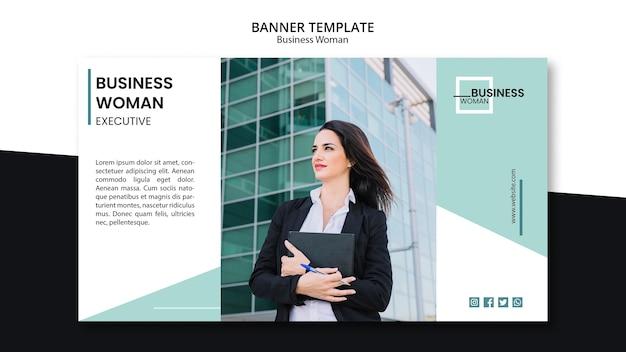 Concept de modèle de bannière pour les entreprises