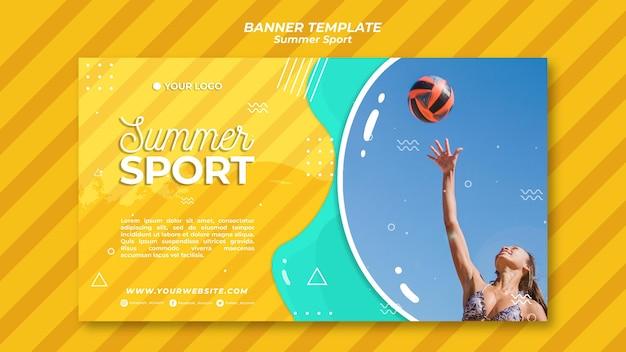 Concept de modèle de bannière de sport d'été