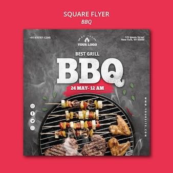 Concept de modèle de flyer barbecue