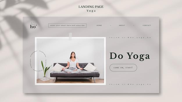 Concept de modèle de page de destination de yoga