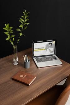 Concept de nature morte de bureau d'affaires minimaliste