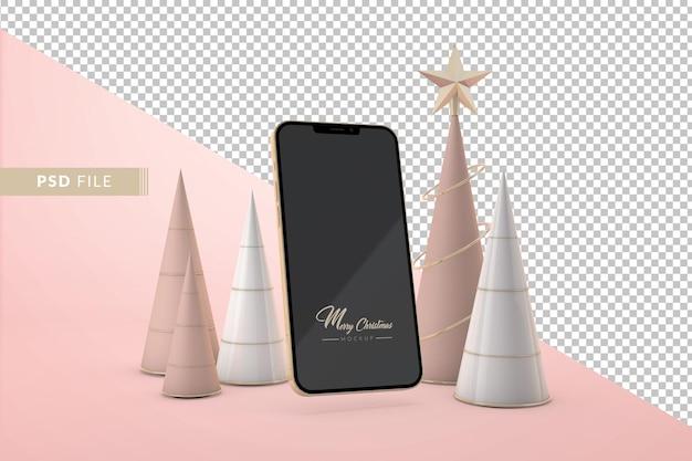 Concept de noël numérique de luxe. rendu 3d