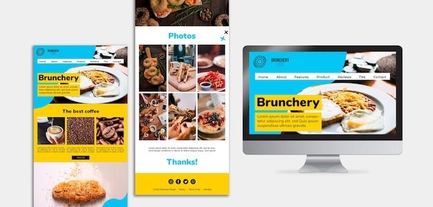 Concept de pages de destination de brunch