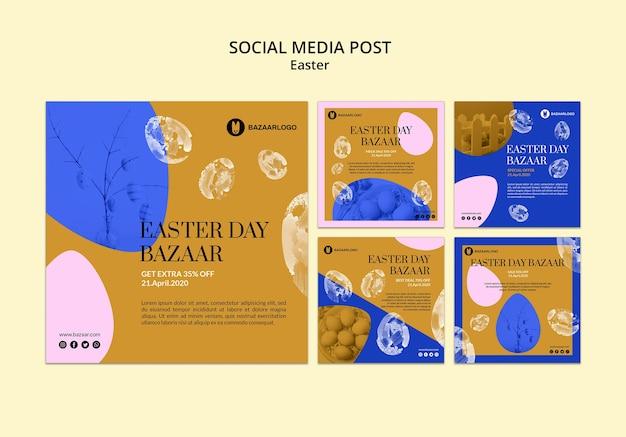 Concept de pâques sur les médias sociaux