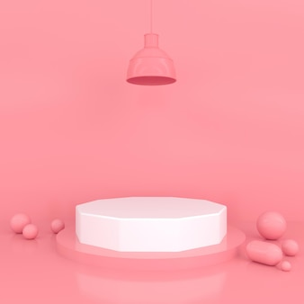 Concept de pastel de forme géométrique abstraite 3d