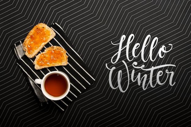 Concept de petit-déjeuner pour la saison d'hiver