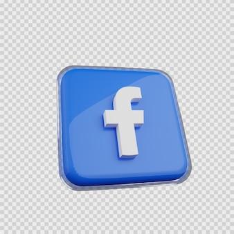 Concept de rendu 3d icône de médias sociaux facebook