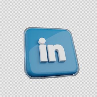Concept de rendu 3d icône de médias sociaux liée dans
