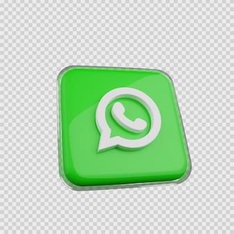 Concept de rendu 3d icône de médias sociaux quelle est l'application