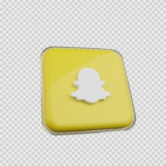 Concept de rendu 3d icône de médias sociaux snapchat