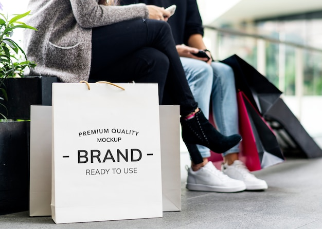 Concept de shopping femme