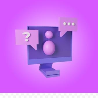 Concept de support de technologie de l'information de rendu 3d
