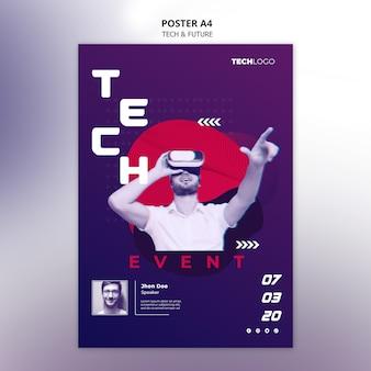 Concept technologique pour affiche