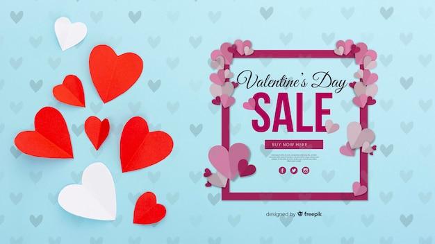 Concept de vente de saint valentin