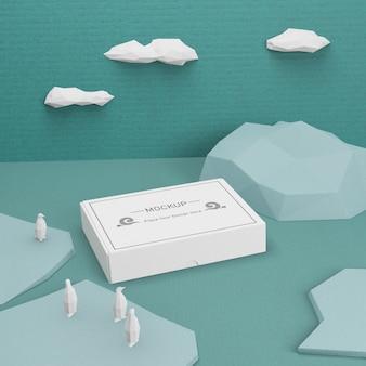 Concept de vie de mer de jour de l'océan avec maquette