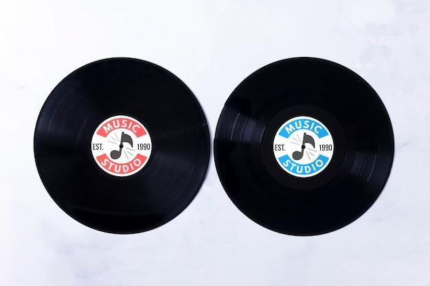 Concept de vinyles de musique