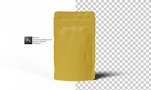 Conception 3d d'illustration d'emballage de thé de café