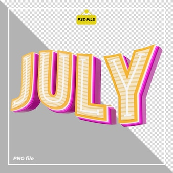 Conception 3d de juillet