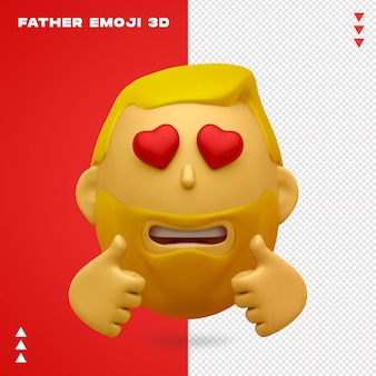 Conception 3d de père emoji