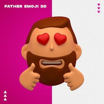 Conception 3d De Père Emoji PSD Premium