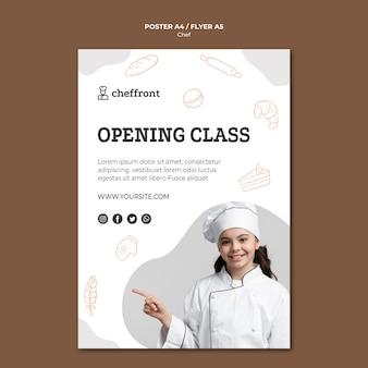 Conception d'affiche de classe d'ouverture