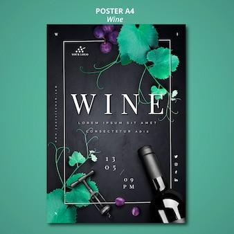 Conception d'affiche de compagnie de vin