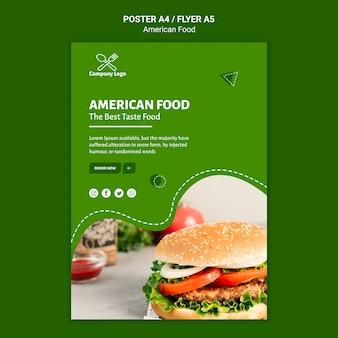 Conception d'affiche de cuisine américaine