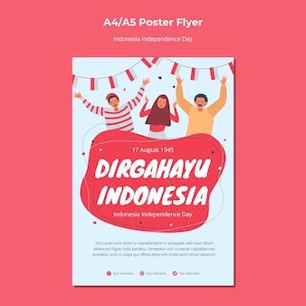 Conception d'affiche du jour de l'indépendance de l'indonésie