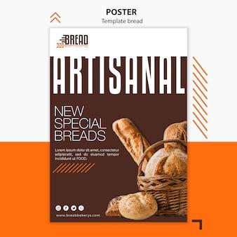 Conception d'affiche entreprise de pain