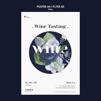 Conception d'affiche d'événement de dégustation de vin