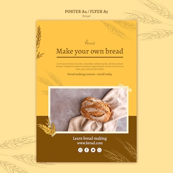 Conception d'affiche de fabrication de pain