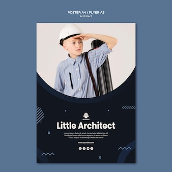 Conception d'affiche de petit architecte