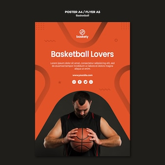 Conception d'affiche pour les amateurs de basket-ball
