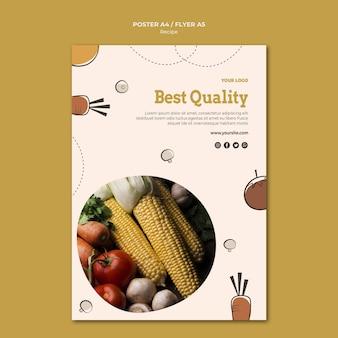 Conception d'affiche de recette de meilleure qualité