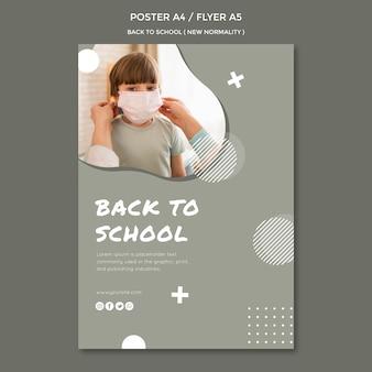 Conception d'affiche de retour à l'école