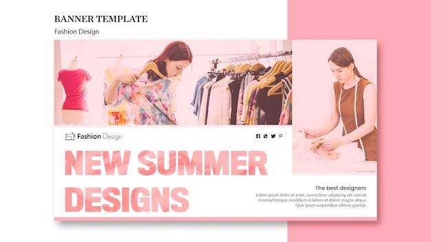 Conception de bannière de conception de mode