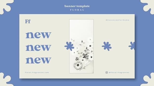 Conception de bannière design floral