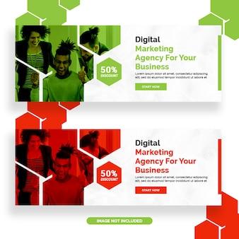 Conception de bannière facebook marketing numérique
