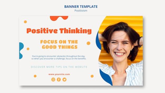 Conception de bannière de pensée positive