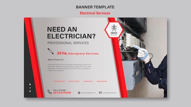 Conception de bannière de services électriques
