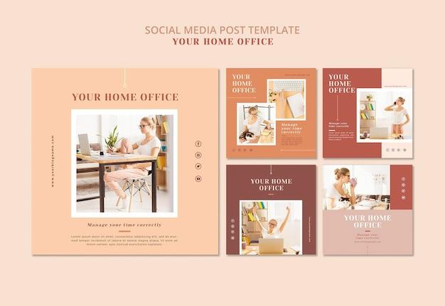 Conception de bannière de votre bureau à domicile
