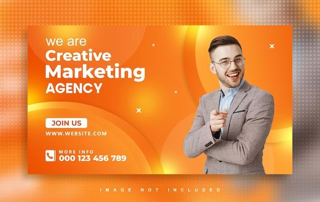 Conception de bannière web d'agence de marketing numérique