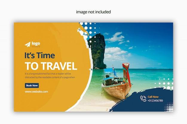 Conception de bannière web de voyage