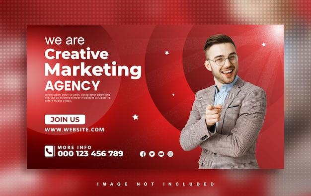 Conception de bannières web d'agence de marketing de médias sociaux