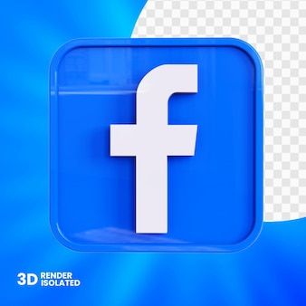 Conception de bouton d'application facebook 3d