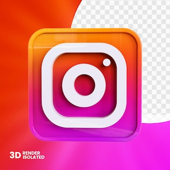 Conception de bouton d'application instagram 3d