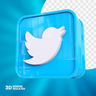 Conception de bouton d'application twitter 3d